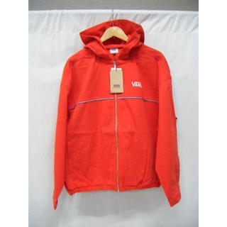 ヴァンズ(VANS)の新品タグ付 VANS フード付 ジャケット 赤 サイズM 定価12000円(ブルゾン)