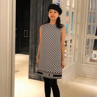 クリスチャンディオール(Christian Dior)のChristian Diorの市松模様のワンピース2018 SS(ミニワンピース)