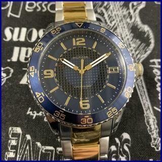 TOMMY HILFIGER - Tommy Hilfiger ブルーにゴールドのバンドが綺麗な時計