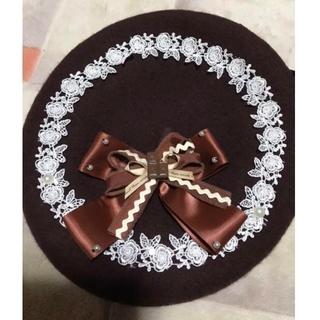 Angelic Pretty - 中国輸入品 チョコレートベレー帽