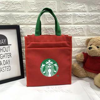 Starbucks Coffee - 海外限定 スタバ トートバッグ ランチバッグ 赤