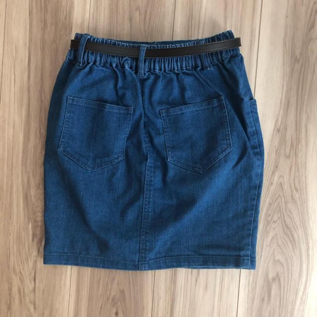 しまむら(シマムラ)のデニムタイトスカート キッズ/ベビー/マタニティのキッズ服女の子用(90cm~)(スカート)の商品写真
