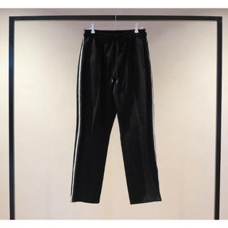 SUNSEA - YOKE KNIT LINE TAPE TRACK PANTS BLACK S