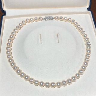 MIKIMOTO - ミキモトK18.大珠パールネックレス。約8ー8.5ミリあこや真珠。照り強め