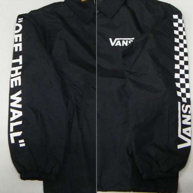 VANS(ヴァンズ)の新品タグ付 VANS コーチ ジャケット 黒 サイズS 定価10800円 メンズのジャケット/アウター(ナイロンジャケット)の商品写真