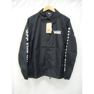 ヴァンズ(VANS)の新品タグ付 VANS コーチ ジャケット 黒 サイズS 定価10800円(ナイロンジャケット)