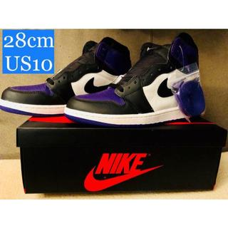 ナイキ(NIKE)のAIR JORDAN 1 RETRO HIGH OG COURT PURPLE(スニーカー)