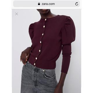 ZARA - ZARA ボタン付きカーディガン