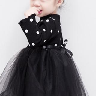 女の子 この季節にぴったり♪  ワンピース スカート ブラック 90サイズ(ワンピース)