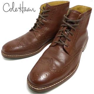 コールハーン(Cole Haan)のコールハーン COLE HAAN ウイングチップ レザーブーツ 9M(27cm(ブーツ)