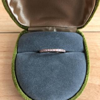 ピンクダイヤモンドk18 PG ハーフエタニティリング (リング(指輪))