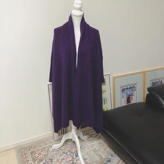 ラルフローレン(Ralph Lauren)のラルフローレン 袖あり ポンチョ パープル/素材タグなし(ポンチョ)