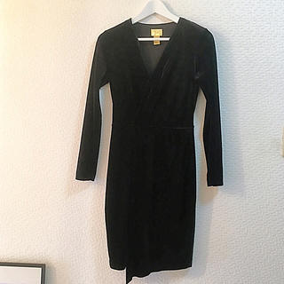 ZARA - h&m ベロア  ドレス ワンピース ブラック
