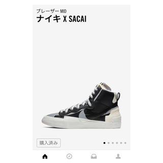 ナイキ(NIKE)のNIKE × sacai BLAZER MID(スニーカー)