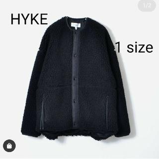 HYKE - 今季 HYKE  FAUX SHEARLING  ボアジャケット ブラック
