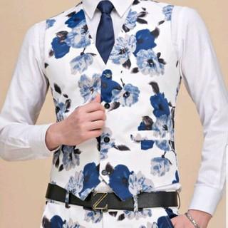 H&M - 花柄スーツ セット 二次会 ウェディング 披露宴 タキシード カラースーツ