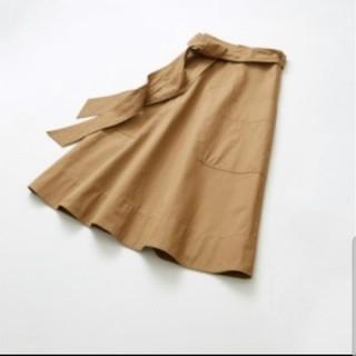 LE CIEL BLUE ベルト付きひざ丈スカート