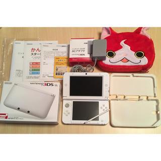 ニンテンドー3DS(ニンテンドー3DS)の3DS LL 本体 箱あり!充電器付き ケース ポーチ おまけ ゲーム 任天堂(携帯用ゲーム機本体)