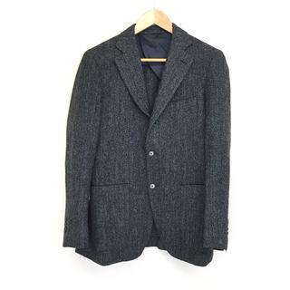 アーバンリサーチ(URBAN RESEARCH)の美品 メンズ JKツイードヘリンボン ウールジャケット 46 M グレー(テーラードジャケット)