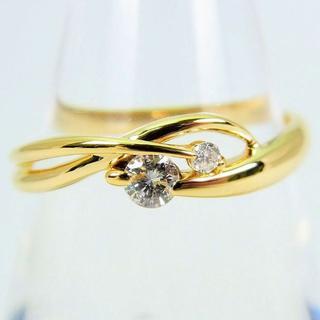 K18 ダイヤモンド リング 11号[g113-4](リング(指輪))
