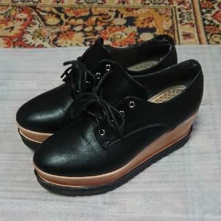 セシルマクビー(CECIL McBEE)のセシルマクビー 厚底 靴 Lサイズ(ローファー/革靴)