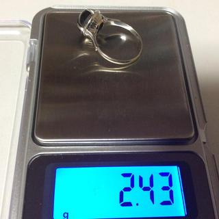 14金 ホワイトゴールドブラックスターサファイアリングお値下げ(リング(指輪))
