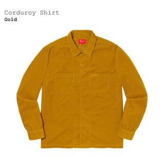 Supreme - Corduroy Shirt Gold Small