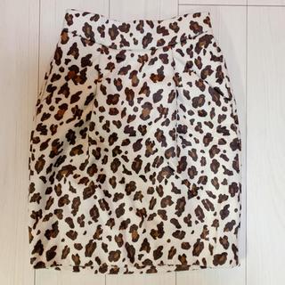 ジーナシス(JEANASIS)のJEANASIS レオパード柄スカート(ミニスカート)