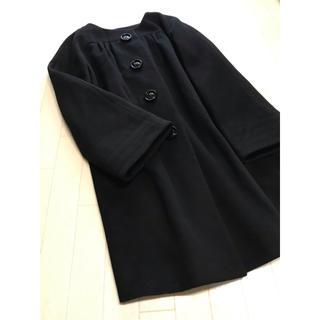 ヨーコドール(YOKO D'OR)の美品 ヨーコドール ギャザー切替 ロングコート 38(ロングコート)