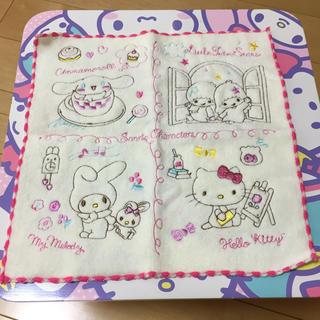 サンリオ - サンリオキャラクター 刺繍 タオルハンカチ