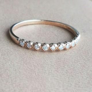 ジュエリーツツミ(JEWELRY TSUTSUMI)の【K10】◆ダイヤモンド0.10ct  ハーフエタニティ フリルデザインリング(リング(指輪))
