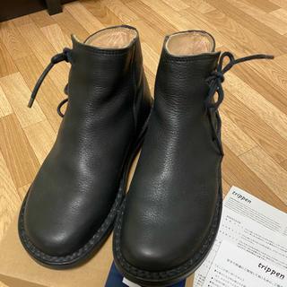 トリッペン(trippen)のトリッペンtrippen Ancestor black35 美品(ブーツ)
