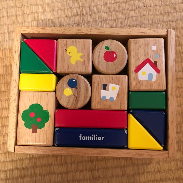familiar(ファミリア)のfamiliar 積み木 キッズ/ベビー/マタニティのおもちゃ(積み木/ブロック)の商品写真