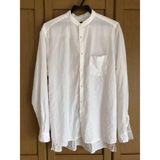 nest Robe - nest Robe CONFECT  ハイカウントリネン バンドカラーシャツ