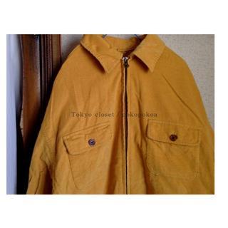 デプト(DEPT)のコーデュロイ シャツ ジップアップ ブルゾン アウター 都内古着屋購入(Gジャン/デニムジャケット)