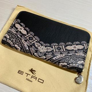 ETRO - 新品未使用 エトロ ラウンドファスナー 長財布 レディース