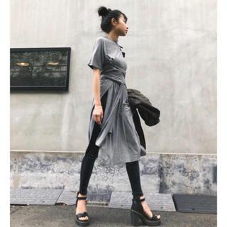 Ameri VINTAGE - juemi  Waist Wrapped Cut Dress
