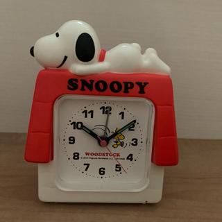 スヌーピー(SNOOPY)のSNOOPY クオーツ電子目覚まし時計(置時計)