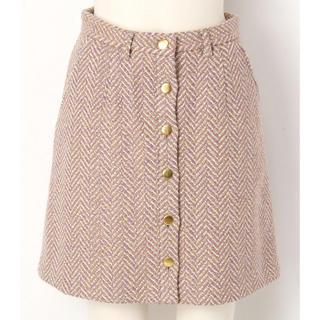 リリーブラウン(Lily Brown)のリリーブラウン ヘリンボン台形スカート(ミニスカート)