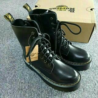 Dr.Martens - Dr.Martens UK5厚底8ホールドクターマーチンブラック皮革未使用ブーツ