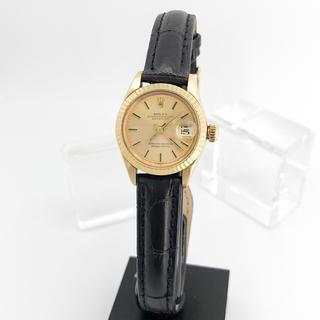 ROLEX - 【OH済/仕上済】ロレックス デイトジャスト K18 金無垢 レディース 腕時計