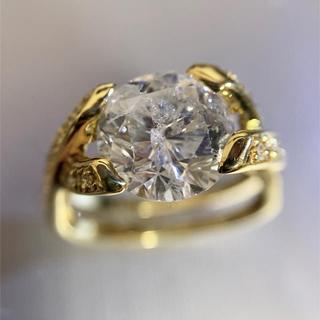 「天然ダイヤモンド 3.793ct」18金 リング!(リング(指輪))