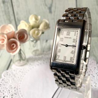 Tiffany & Co. - 【希少】TIFFANY&Co ティファニー 腕時計 スクエア クラシック メンズ
