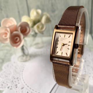 MARGARET HOWELL - 【電池交換済み】MARGARET HOWELL 腕時計 スクエア ピンクゴールド
