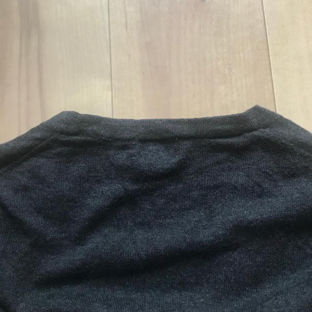 UNIQLO(ユニクロ)のユニクロ 綿 カシミヤ カーディガン ダークグレー メンズのトップス(カーディガン)の商品写真