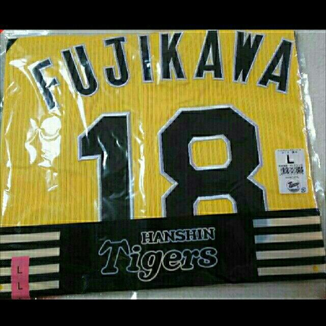 MIZUNO(ミズノ)の阪神タイガース ユニフォーム ウル虎 藤川球児 スポーツ/アウトドアの野球(応援グッズ)の商品写真