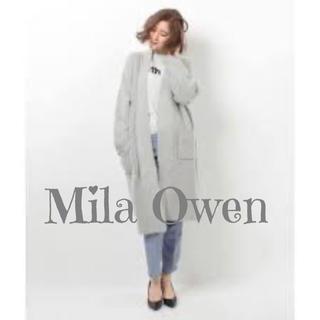 ミラオーウェン(Mila Owen)のMila Owen ロングカーデ ニット コート ブークレ(ロングコート)