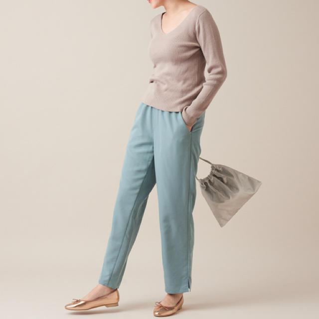 Discoat(ディスコート)のDiscoat ウォッシャブルリブVプルオーバー 美品 レディースのトップス(ニット/セーター)の商品写真
