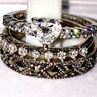 スタージュエリー(STAR JEWELRY)のstarjewelry ハーフエタニティ ダイヤリング pt950(リング(指輪))