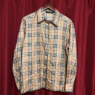 BURBERRY - ✩.*˚バーバリー☆シルク ノバチェックチェックシャツ メンズS✩.*˚